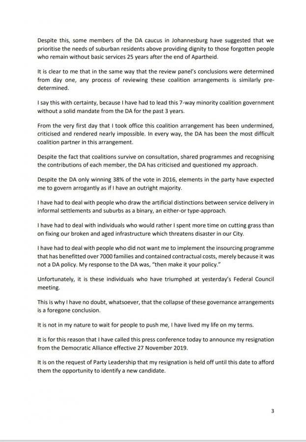 herman mashaba resigns joburg mayorb 1