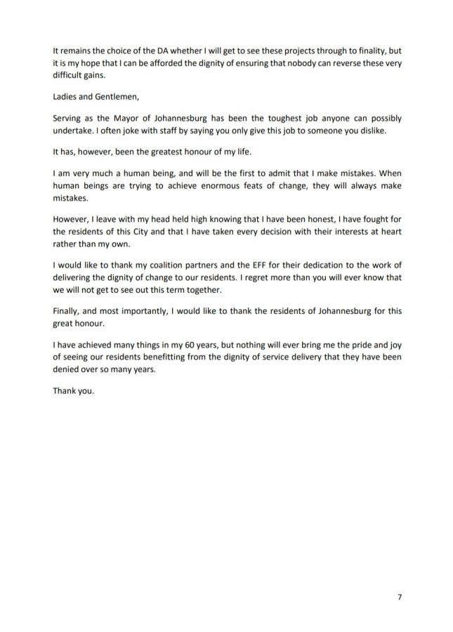 herman mashaba resigns joburg mayor