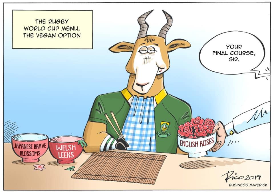 joke vegan bok menu rugby world cup