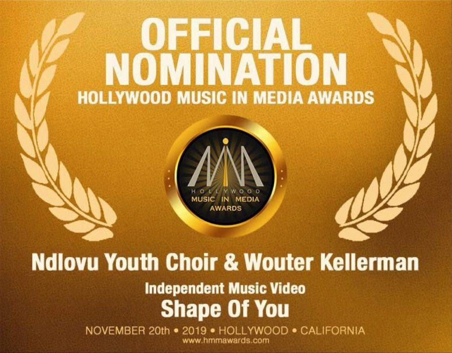 Ndlovu Youth Choir and Wouter Kellerman Hollywood music nomination
