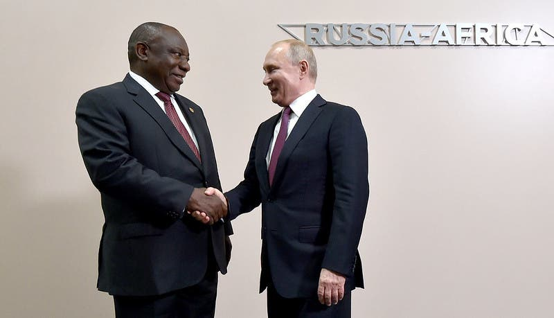 ramaphosa and putin russia south africa
