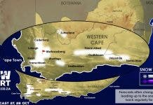 snow report south africa map