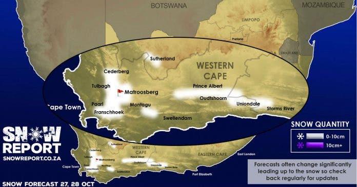 construction rationnelle sur des pieds à vraiment à l'aise Snow Ways! Light Snow May Fall in Western Cape, Sutherland ...