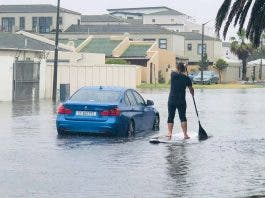 south african sup paddle boarding cape town floods