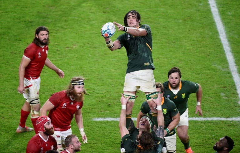 South Africa's Franco Mostert in action