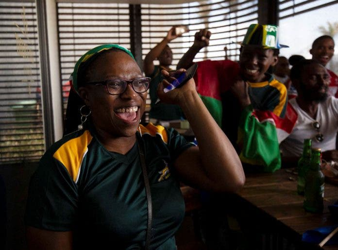 Rugby World Cup - Final - Fans watch England v South Africa in Cape Town