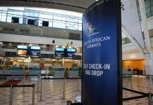 Deserted counters are seen as South African Airways (SAA) workers downed tools on Friday in a strike over wages and job cuts, at Cape Town International Airport in Cape Town