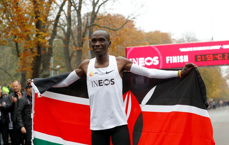 Eliud Kipchoge athlete of the year world athletics