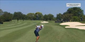 players tee off in shorts european open south africa