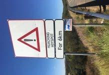 south african hijacking hotspot sign