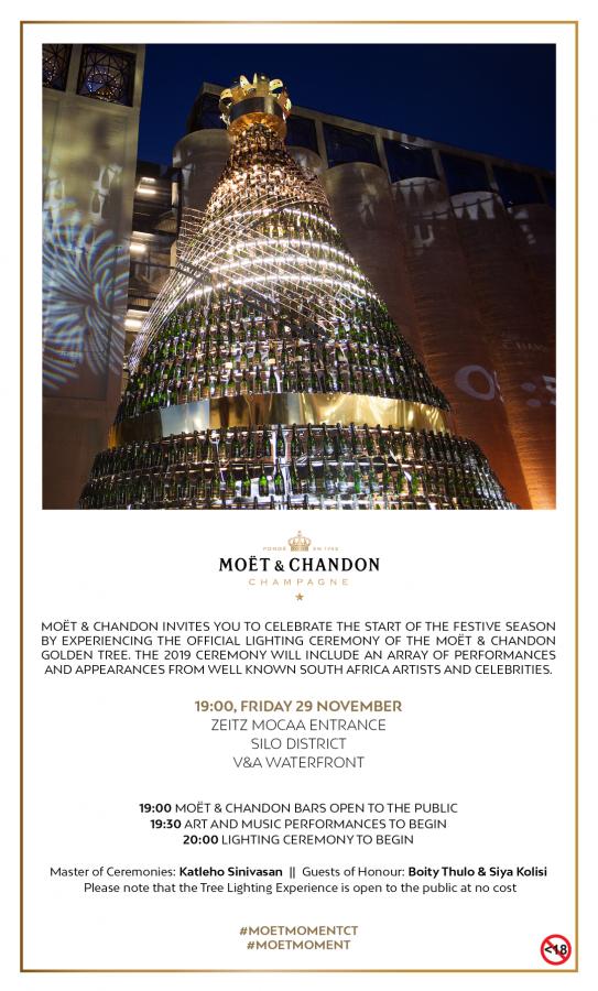 Public invitation Mo%C3%ABt Chandon Golden Tree Lighting Ceremony 543x900 - Siya Kolisi to light up the Moët & Chandon Golden Christmas Tree