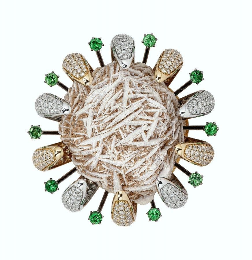 Desert Rose ring featured in New York. Photos supplied