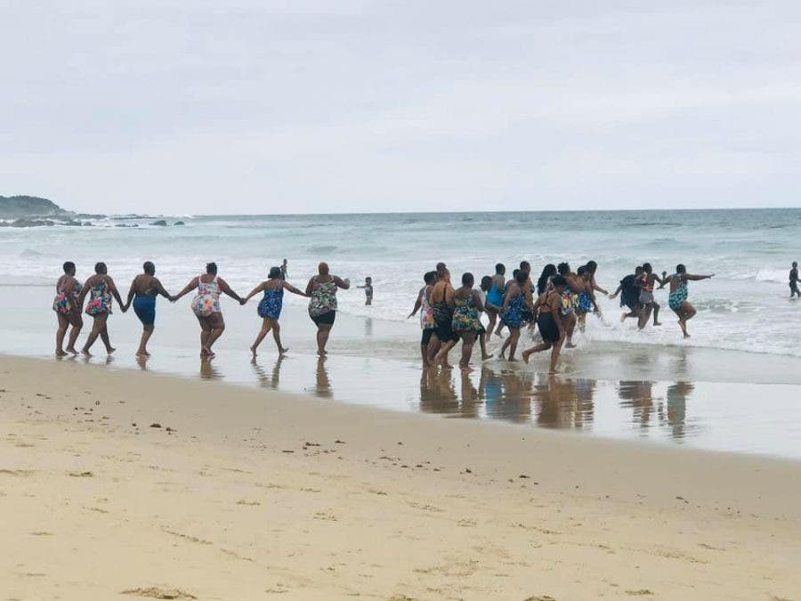 gauteng grannies first ocean swim ever