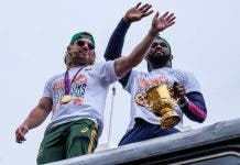 kolisi and faf in port elizabeth