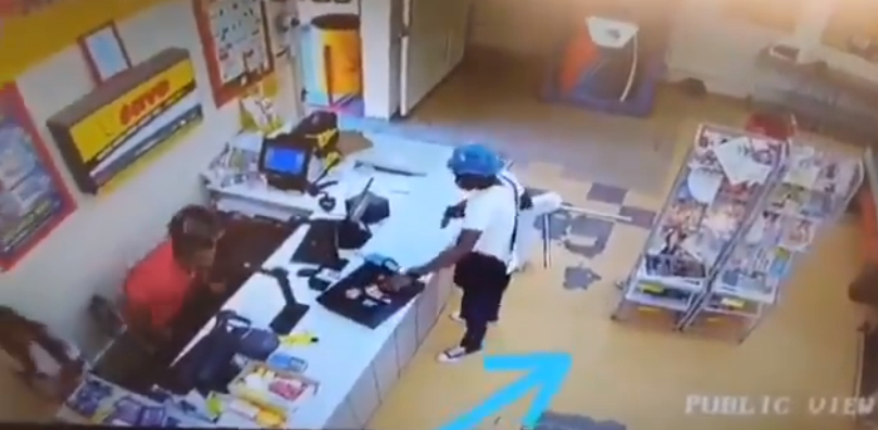 WATCH Armed Robber Getting Robbed by Customer