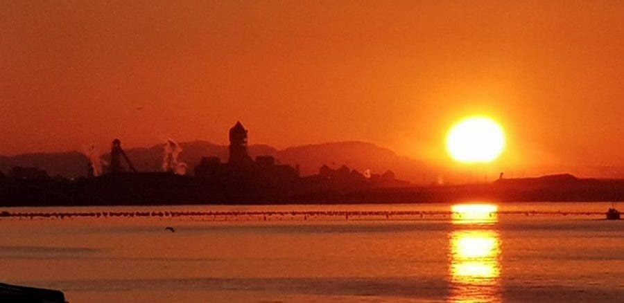 Photo by Johann Visage. Saldanha Steel, sunrise