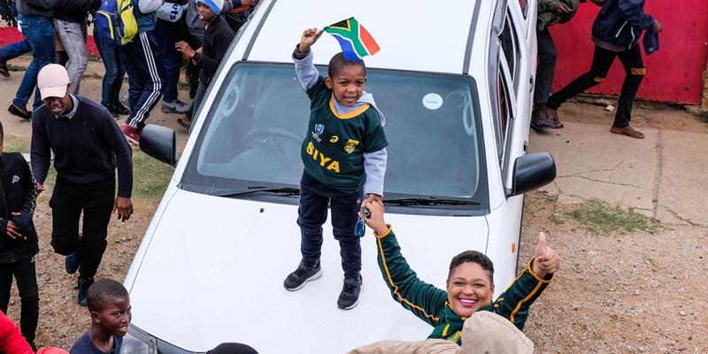 springbok fans pe kid