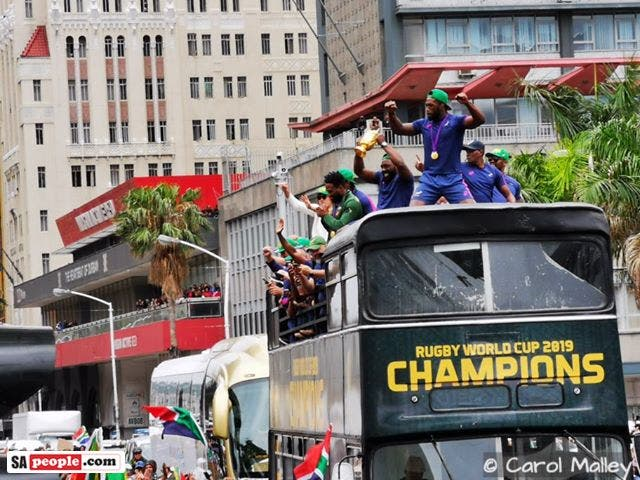 springbok trophy tour parade in durban south africa