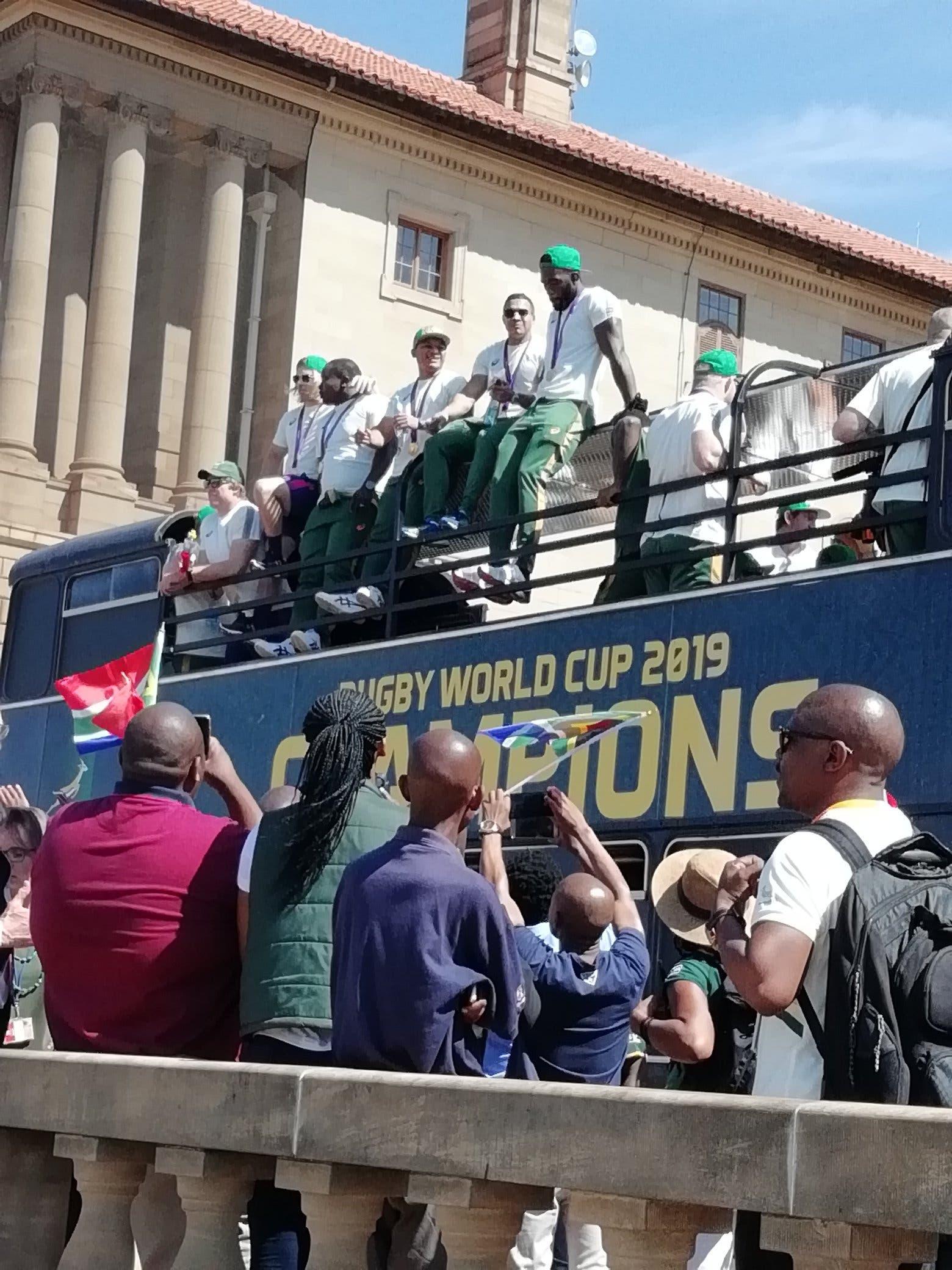 springboks on bus tour of south africa