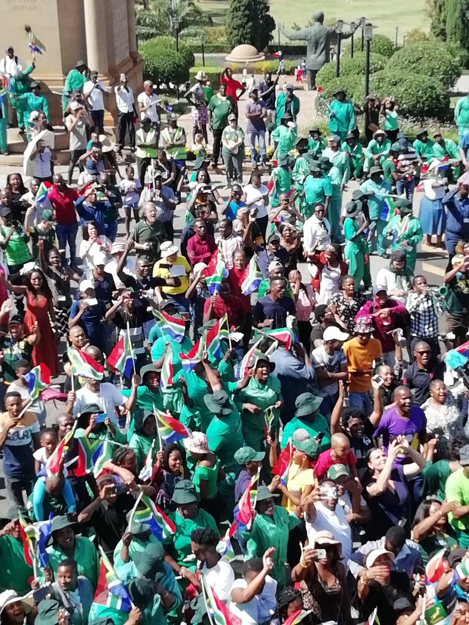 springboks parade tour rwc pretoria