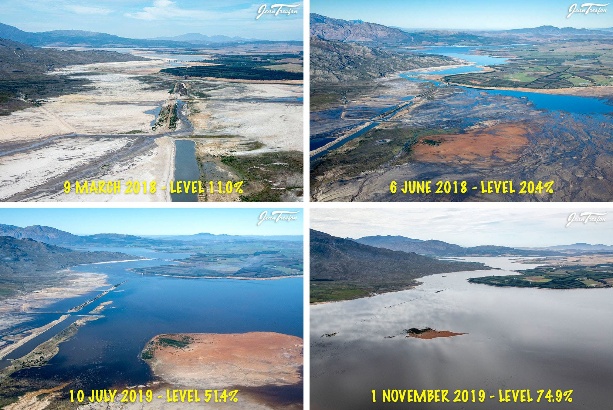 theewaterskloof dam water levels