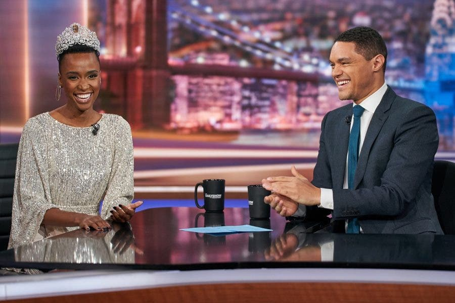 Zozibini Tunzi and Trevor Noah 2