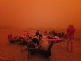 beach fighting fires australia