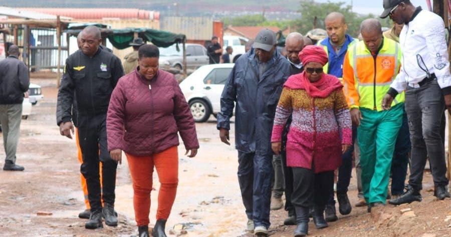 CoGTA Minister Dr Nkosazana Dlamini Zuma Tshwane floods