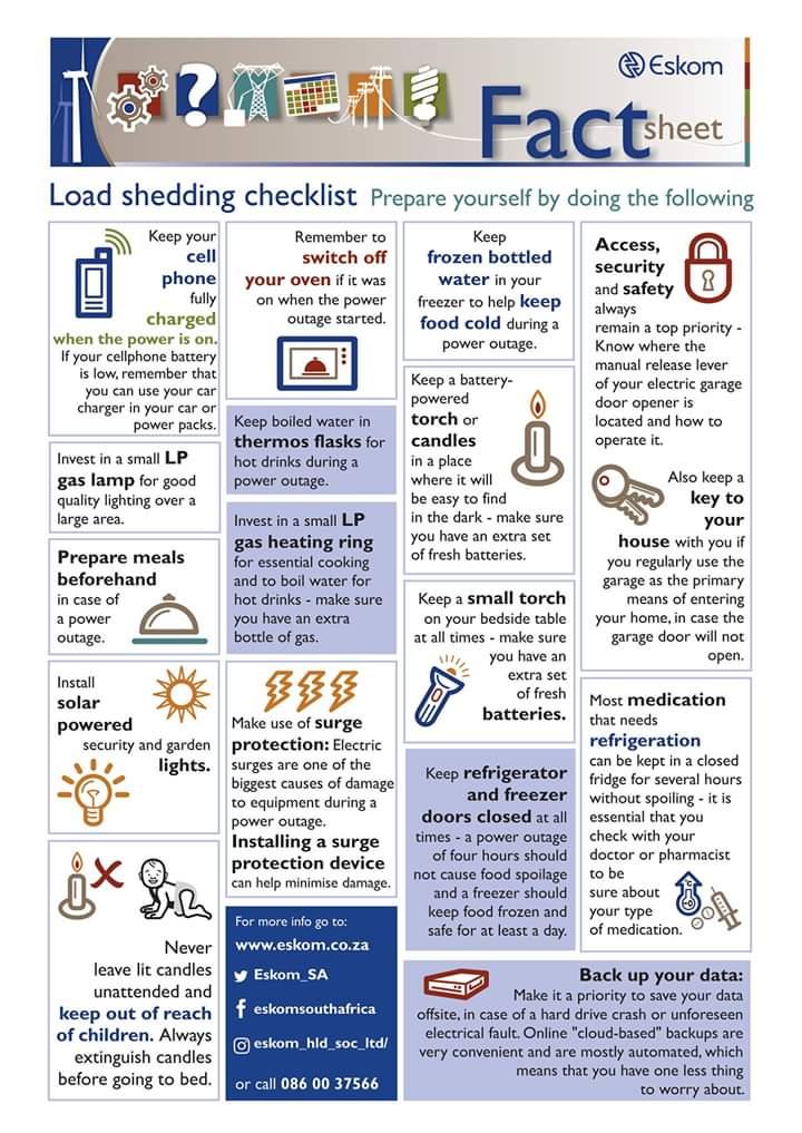 loadshedding tips south africa