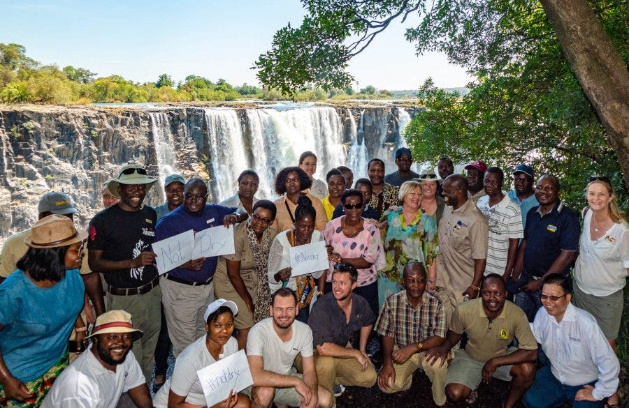 Victoria Falls is not drying up tourism tells BBC