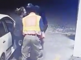 woman manhandled south african police