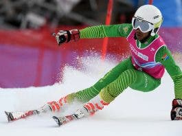 Thabo skier south african winter olympics