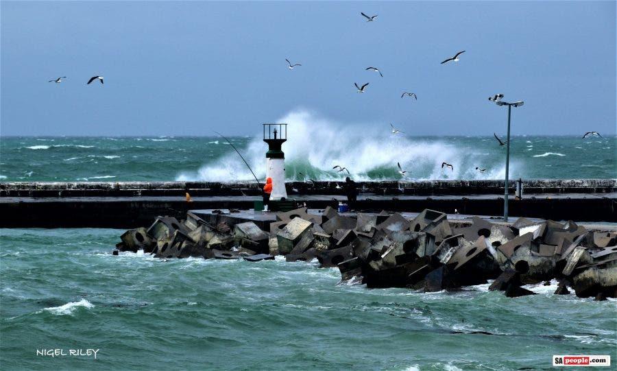 kalk bay harbour big waves