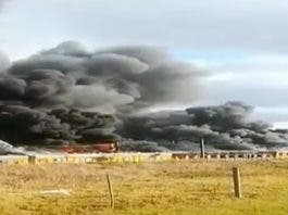 metrorail train fire cape town video
