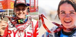 south african women first complete dakar rally on bike
