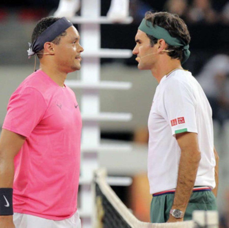 Trevor Noah and Roger Federer Cape Town