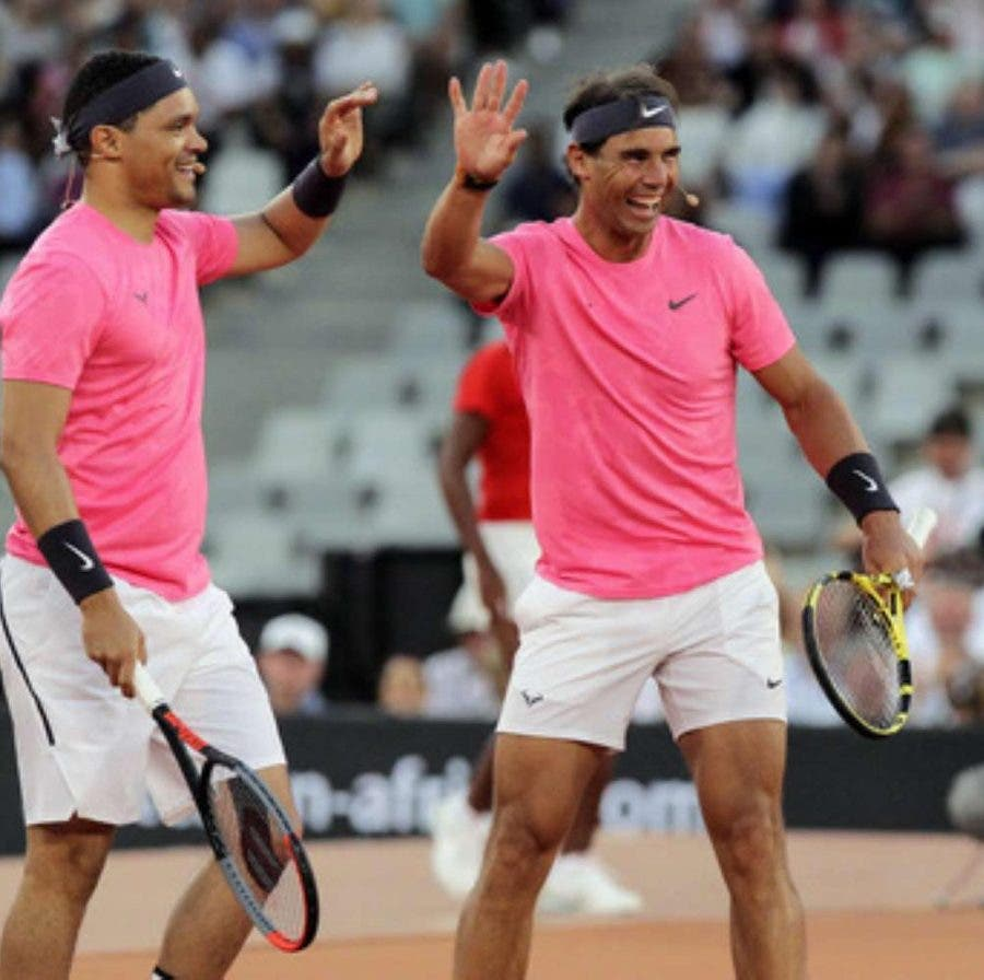 Trevor Noah and Rafa Nadal Cape Town