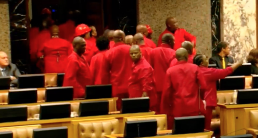 EFF leaves sona parliament