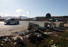 Law enforcement arrives at the Coastal Park Landfill Site