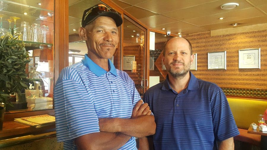 former homeless south african to play with best men's professional golf players