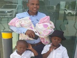 south african father twins mom died widowed