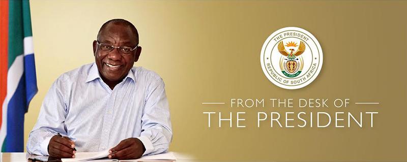 president rampahosa letter