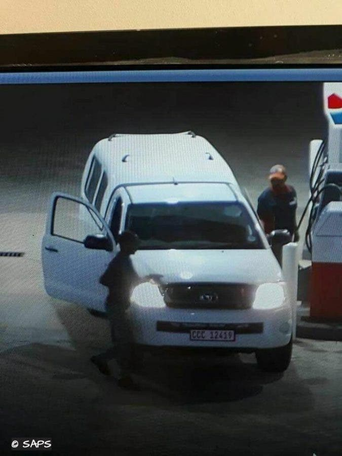 South African Police released this CCTV image of the gang