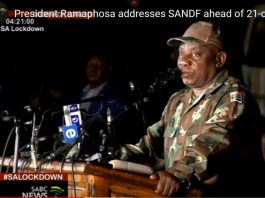 ramaphosa army fatigues south africa