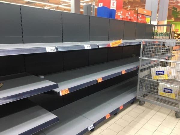 europe shop shelves coronavirus quarantine