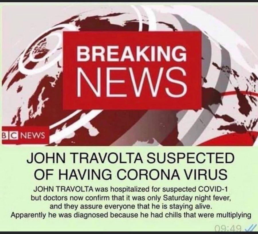 coronavirus jokes and memes john travolta