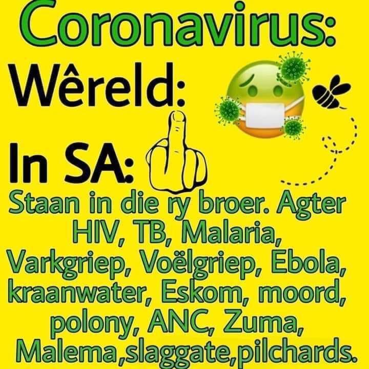 south african joke about coronavirus
