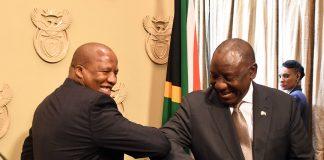 president cyril ramaphosa elbow bumping coronavirus south africa update