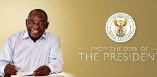 president ramaphosa letter coronavirus