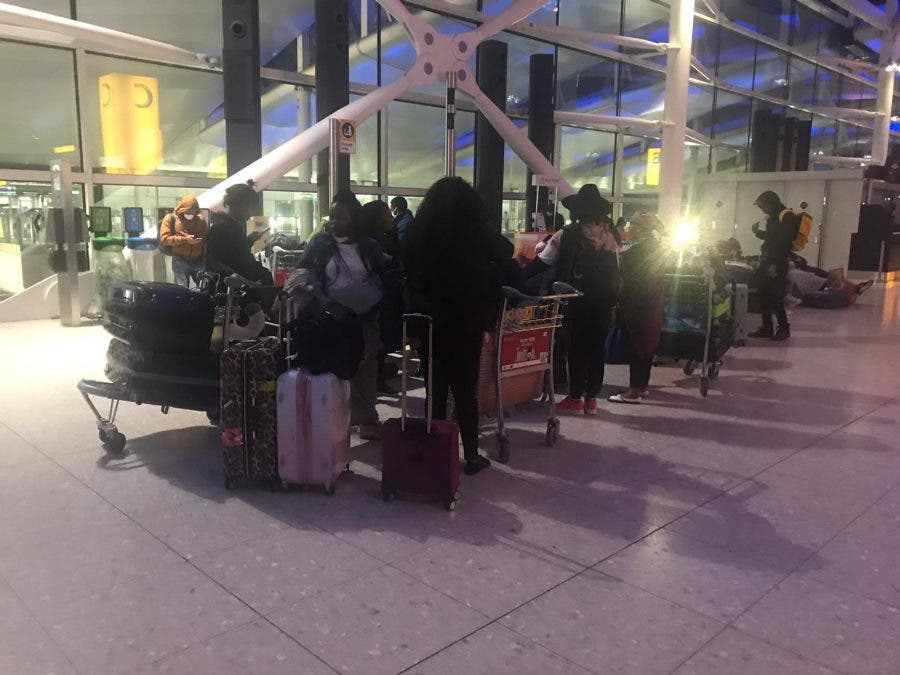 south africans leave heathrow